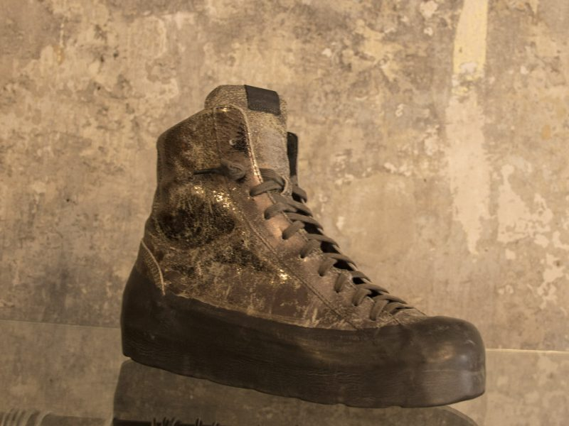 RBRSL_Rubber Soul High Sneakers in goldmetallic Leder in perfektem Zustand