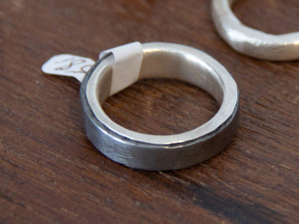 Ringe aus unserem Schmuckkästchen aus Silber-Eisen Kobination gefertigt