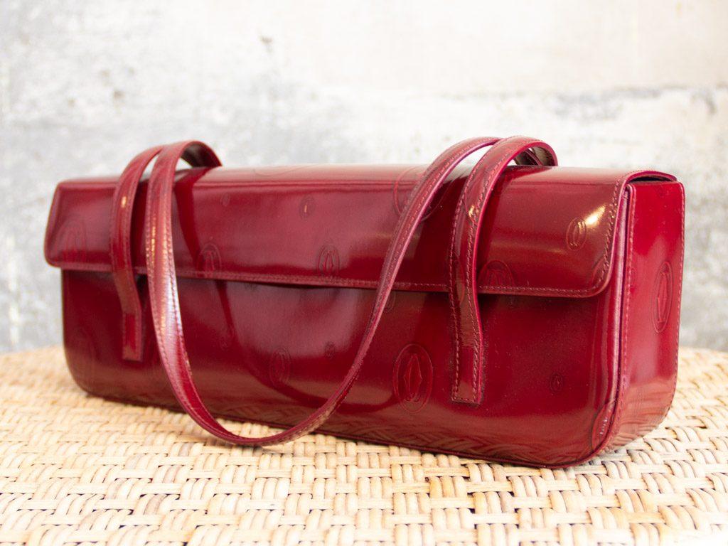 Cartier Handtasche Lackleder