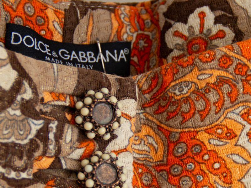 7/8 Hose von Dolce & Gabbana mit geprägtem Stoff