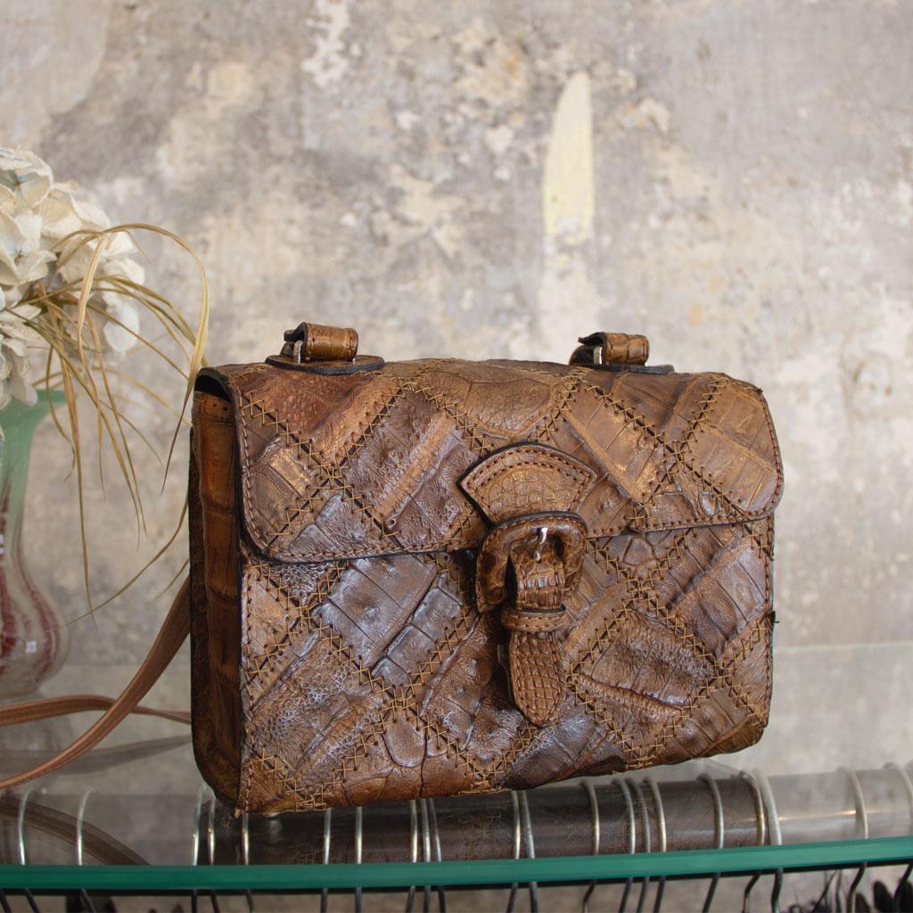 Krokoleder-Handtasche vintage