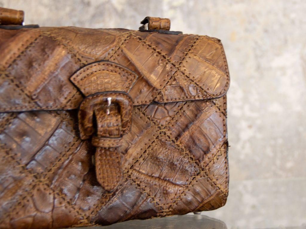 Super Zustand Krokoleder-Handtasche