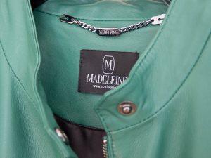 Grüne Damenlederjacke Madeleine Detailansicht
