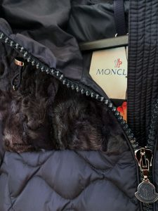 Damen-Anorak von Moncler mit fixer Kapuze