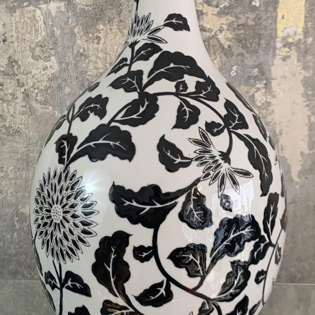 Handgefertigte Vase, Detailansicht