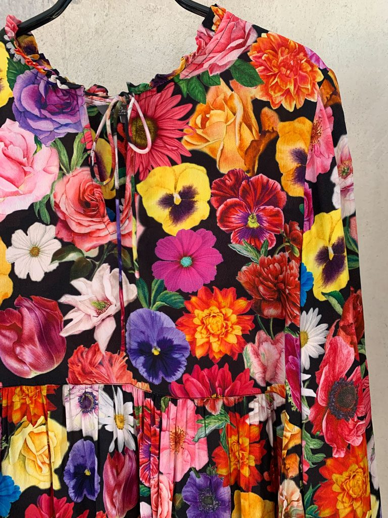 Sommerliches Blumenkleid Princess, Detailansicht Muster