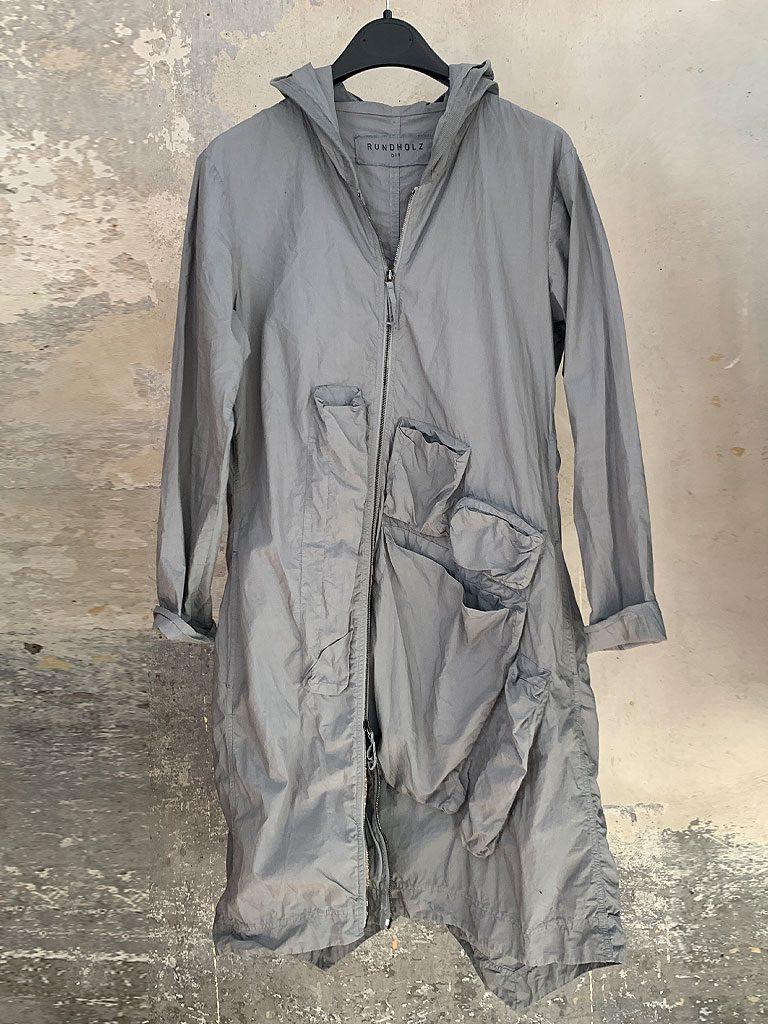 Leichter Damen-Sommermantel aus aufregendem Baumwolltüll von Rundholz DIP