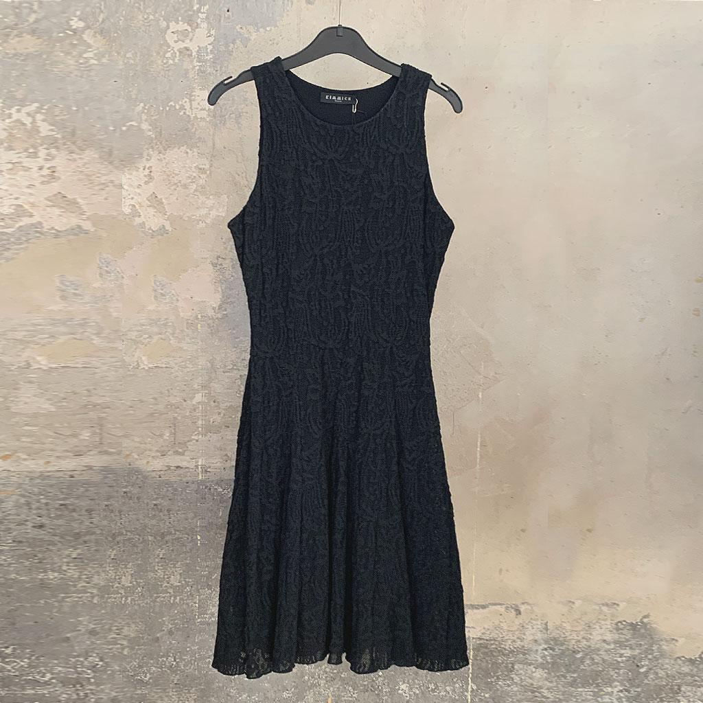 Schwarzes Spitzenkleid Größe 38 Kimmich Design